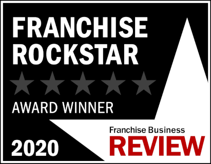 Franchise Rockstar Award Winner of 2020 by the Franchise Business Review