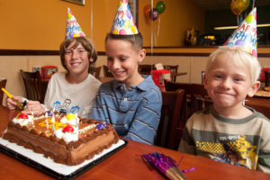 Fun kids birthday party at Straw Hat Pizza