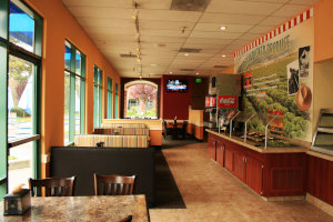 Modern Straw Hat Pizza interior